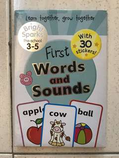 Flashcards First Words and Sounds - 3-5yo