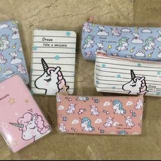 Unicorn passport holder/ pencil cases