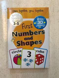 Flashcards First Numbers and Shapes - 3-5yo