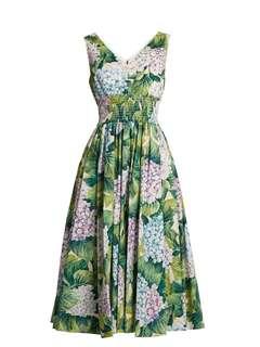 d&g hydrangea dress sleeveles