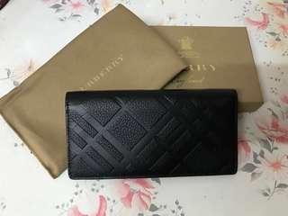 全新 Burberry Black Wallet