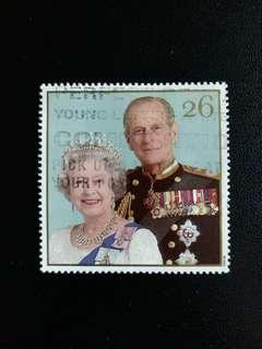 英國郵票 1997年英女皇伊莉莎伯和菲臘親皇金婚纪念已銷