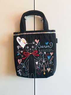 日本直送🇯🇵貓咪硬布手挽袋