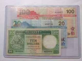 滙ˊ豐銀行舊版對子號 EF( 值得收藏 趣味 升值 )