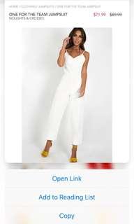 Denim white jumpsuit