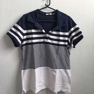 Stripped polo shirt