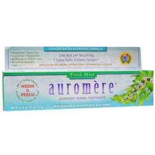 Auromere Ayurvedic Herbal Toothpaste Fresh Mint 4.16 oz (117 g)