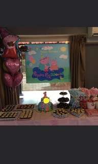 Large Peppa Pig party backdrop poster