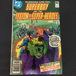 Superboy & The Legion Of Super Heroes 256 DC Comics Book Justice League Movie Superman
