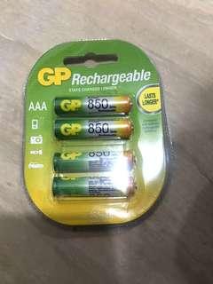 AAA充電池4粒