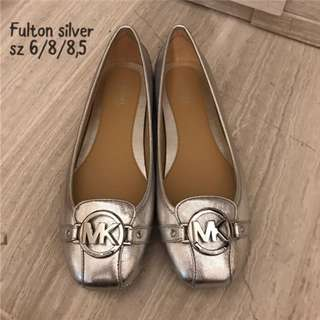 Authentic Michael Kors Fulton Shoes - Silver
