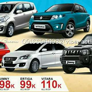 Suzuki low down promo starts at 28k down and 9k monthly