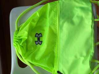 Neon Green UA Drawstring Bag