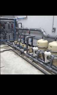 Swimming pool & jacuzzi fabrication, maintenance, repair and pool equipment