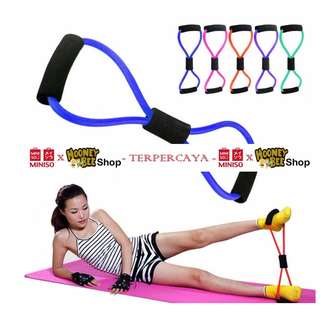 Japan Quality - Alat Olahraga MINISO Sports 8 shape Yoga Resistance