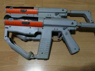 2x PlayStation Move Sharp Shooter Gun PS3