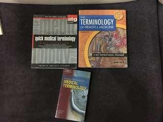 Medical school textbooks. Medical terminology.