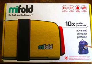 Mifold grab-and-go booster seat (BNIB)