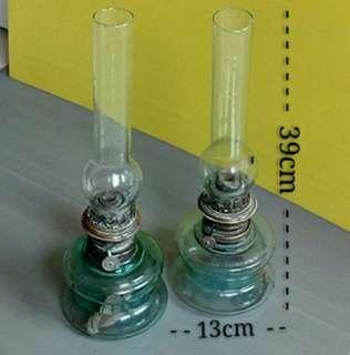 Glass Chimney Oil Lamp