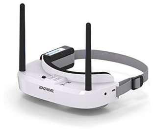 1🔥💥Last set💥EACHINE EV100 5.8G 72CH 720x540 Resolution FPV Goggles With Dual Antennas Fan 7.4V 1000mAh Battery For RC FPV Quadcopter Drone (White)