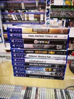 Ps4 Games used Rm400 all 11pcs free postage 0124140307 WhatsApp