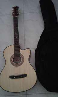 Brand New Manning Brand Acoustic Guitar With New Guitar Bag