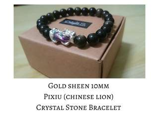 Gold sheen and Pixiu change colour Bracelet