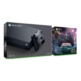 Xbox One X Console 1TB (A) + Microsoft Xbox One Wireless Controller Sea Of Thieves Limited Edition Bundle (Local Warranty Set)