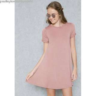 Forever 21 Pink Shirt Dress
