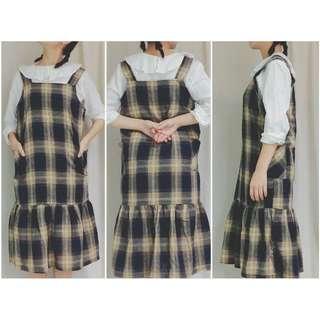 🚚 二手物👕格紋吊帶裙