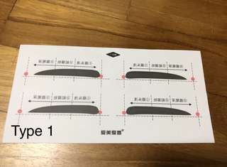 Eyebrow drawing sticker (Reuseable)