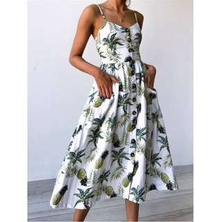 Floral Strap Long Dresses 041178*re-stocked* W7