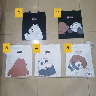 Totte Bag Miniso We Bare Bears