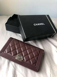 Chanel long flap Wallet長銀包boy chanel