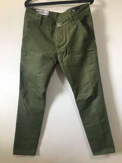 Superdry green long pants