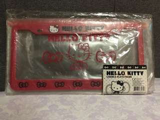 Hello Kitty Car Plate Frame