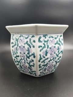 花藝藍調瓷器花瓶(珍藏超過30年)