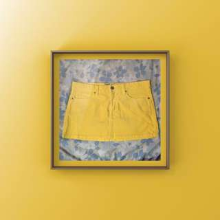 Wax Yellow Mini Skirt