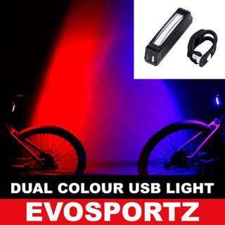 🚚 Dual Colour USB Rechargeable Light