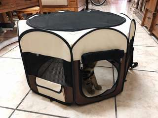🚚 寵物帳篷 寵物八角帳篷 可折疊好收納好攜帶 透氣舒適 寵物露營帳篷 兩門設計 貓咪 狗狗 寵物窩