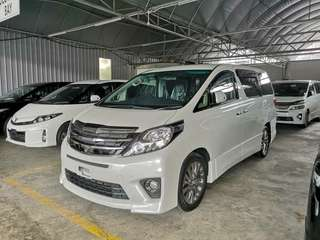 TOYOTA ALPHARD 2.4 240S TYPE GOLD II HOME THEATER COOLBOX UNREG 2014