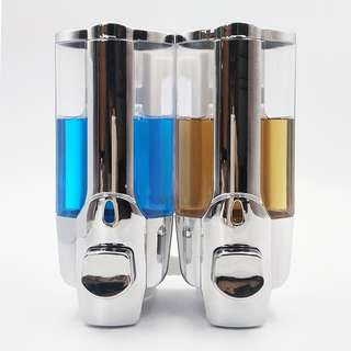 842. StrongTools 2 Chamber Wall Mounted Shampoo Dispenser with Chrome Finish; Shower and Soap Pump (2 Chamber)