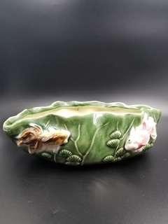 鲤鱼雙送綠花瓶