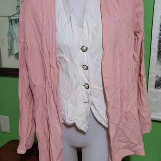 office blouse with blazer