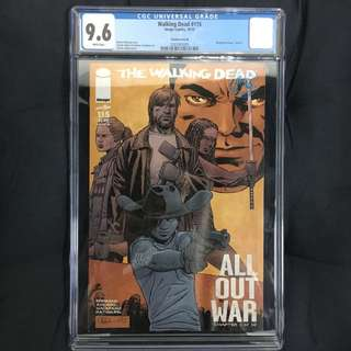 Walking Dead 115 CGC Image Comics Book Zombie AMC FOX TV