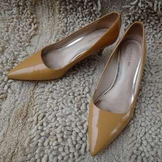 🚚 正品 COACH 秀麗優雅 真皮 尖頭鞋 Size: 35