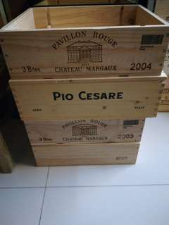 4 for $55 Brand new Wooden Wine Crates