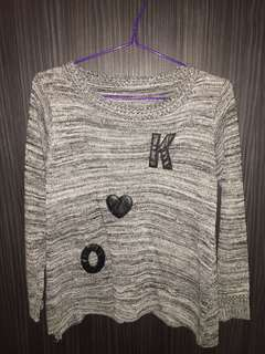 Grey word sweater