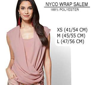 Restock branded NYCO Wrap salem blouse
