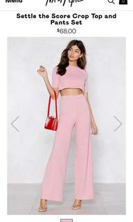 Nastygal crop and pant set